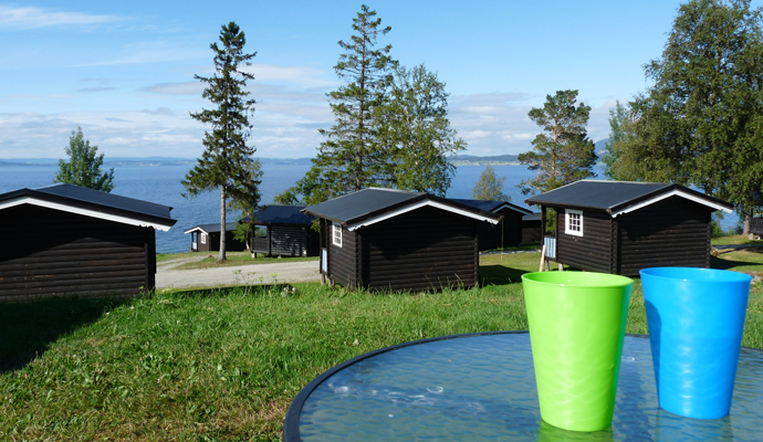 Campingplatz mit Hütten