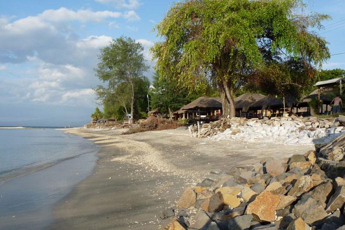Strand mit Hütten