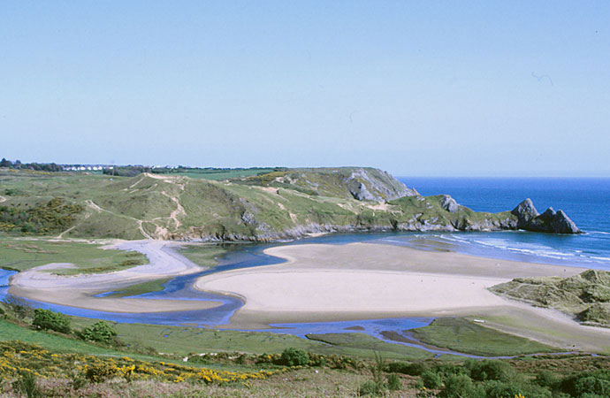 Three Cliffs Bay auf Gower