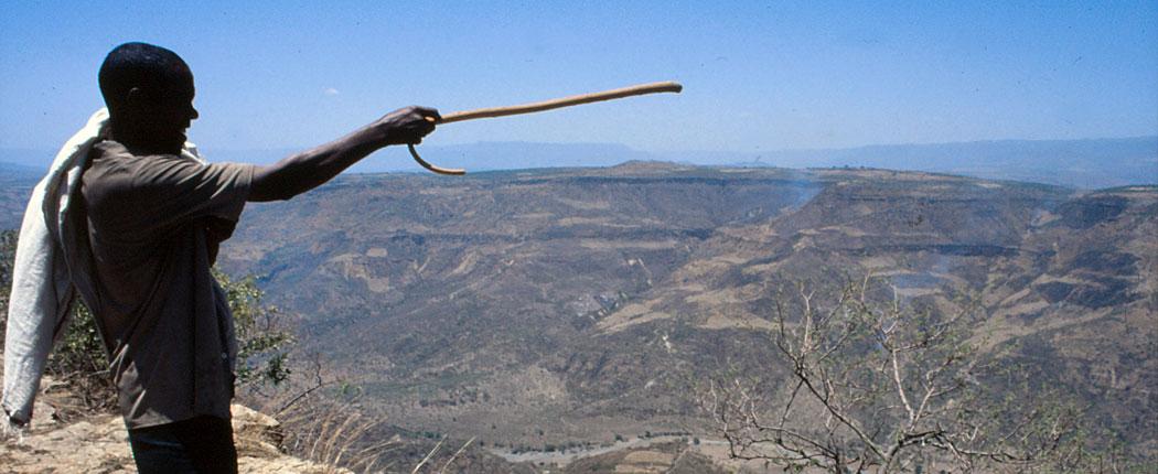 Blick über die Berge in Äthiopien