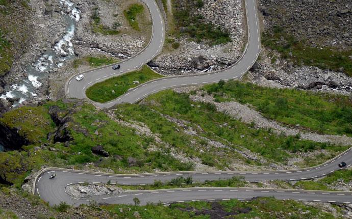 4 Wochen Norwegen: Haarnadelkurven am Trollstigen