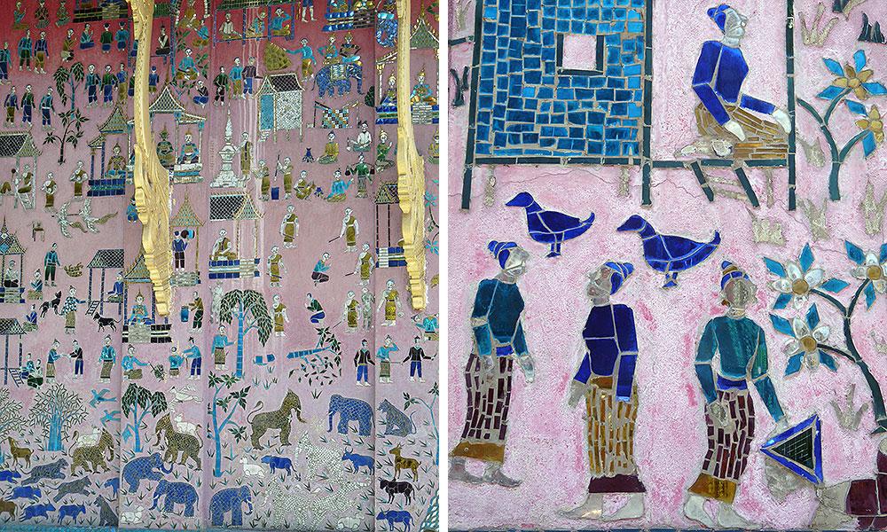 Bilder an einer Wand, mal viele auf einmal, mal Details