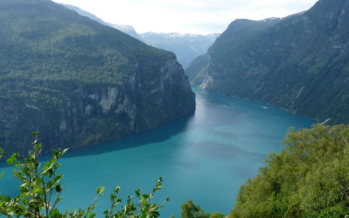 Norwegen Vorbereitung: Fjord von oben
