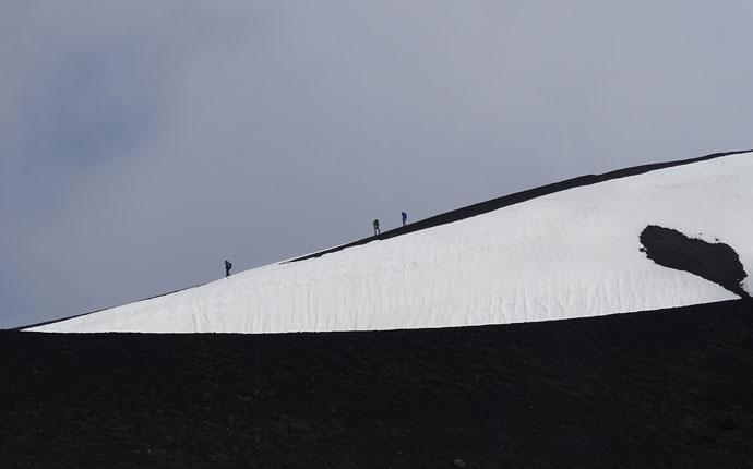 Sizilien Ätna Silvestri Krater