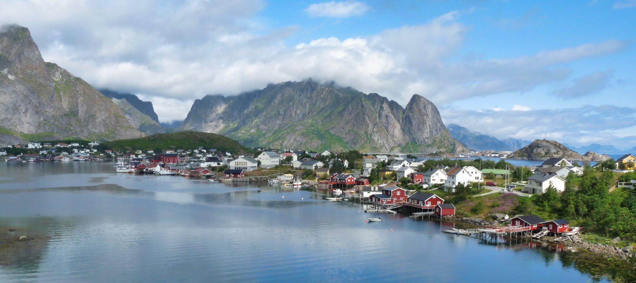 Dorf Reine auf den Lofoten