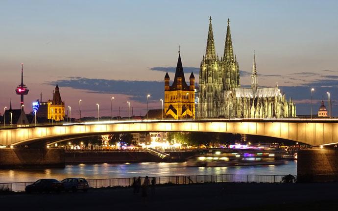 Nachtfoto Köln