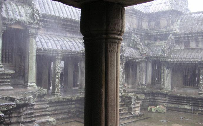 Regenzeit Kambodscha