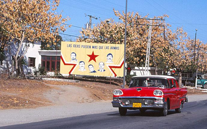 Kuba Straßenschild