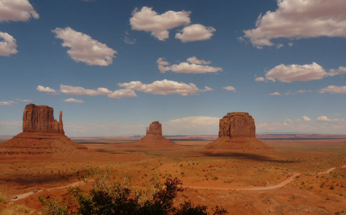 Felsen im Monument Valley in den USA