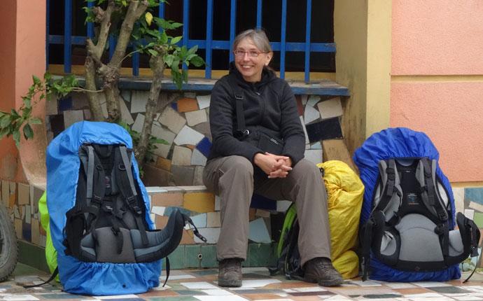Rucksack oder Koffer Bolivien