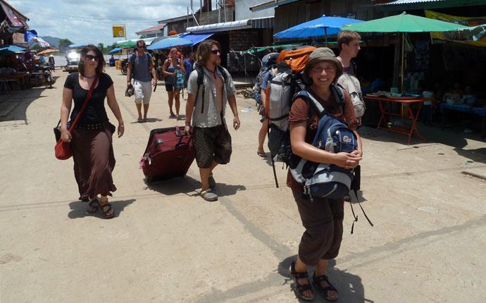 Rucksack oder Koffer Laos
