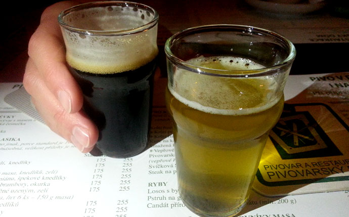 Pilsner Bier in Prag