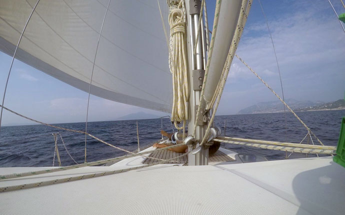 arbeiten auf dem segelschiff