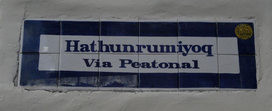 Straßenschild Peru