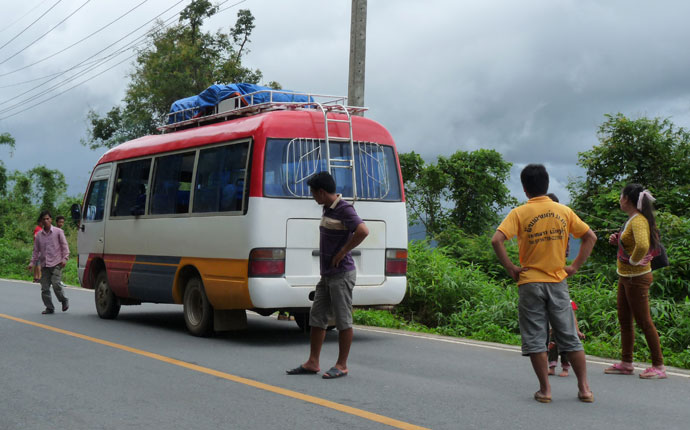 Bus in Laos