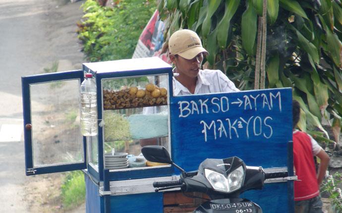Essen Straßenstand Indonesien