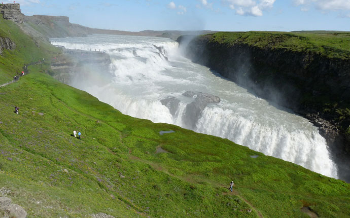 Wasserfall Gulfoss auf dem Golden Circle in Island