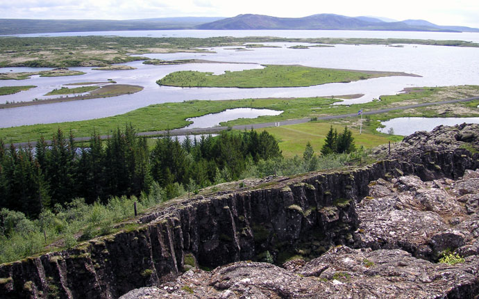 Thingvellir auf dem Golden Circle in Island
