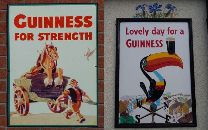 Guiness Werbeschilder