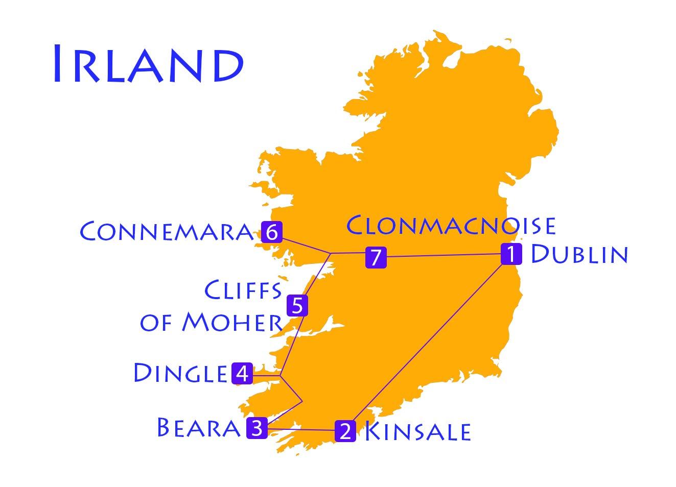 Karte von Irland