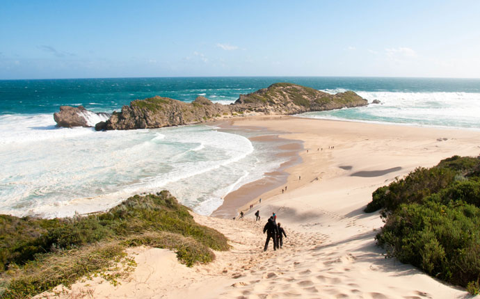Strand am Robberg Nature Reserve Südafrika