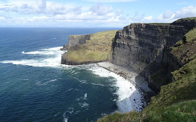 An den Klippen von Moher in Irland