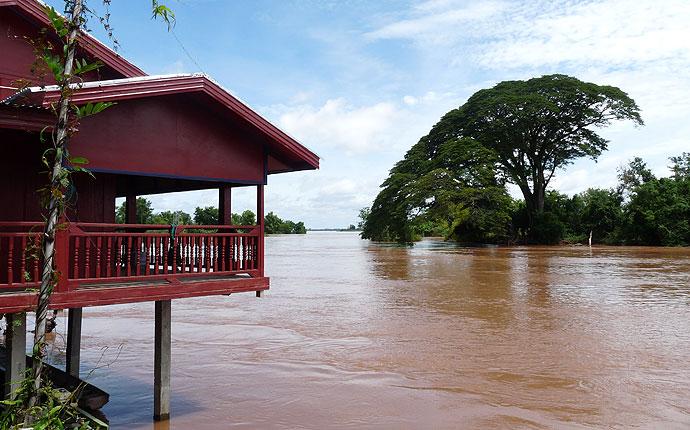 Mekong Baum und Restaurant auf Don Det