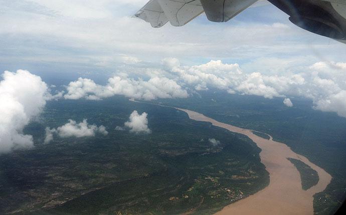 Mekong aus dem Flieger