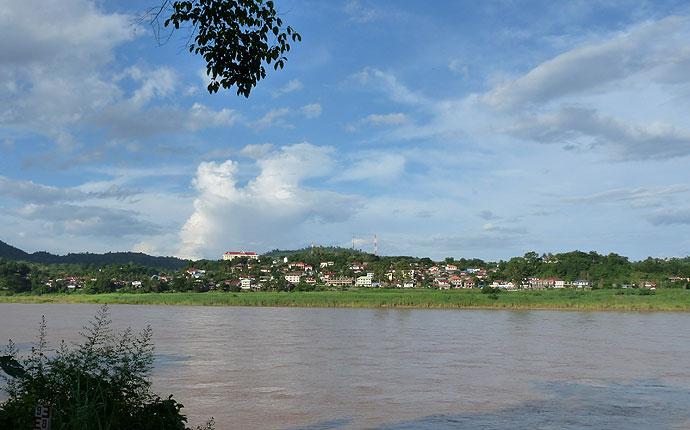 Mekong Grenze Laos