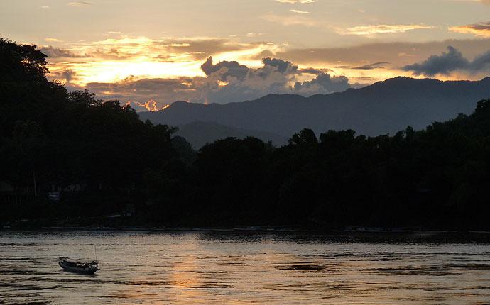 Mekong Sonnenutergang Luang Prabang