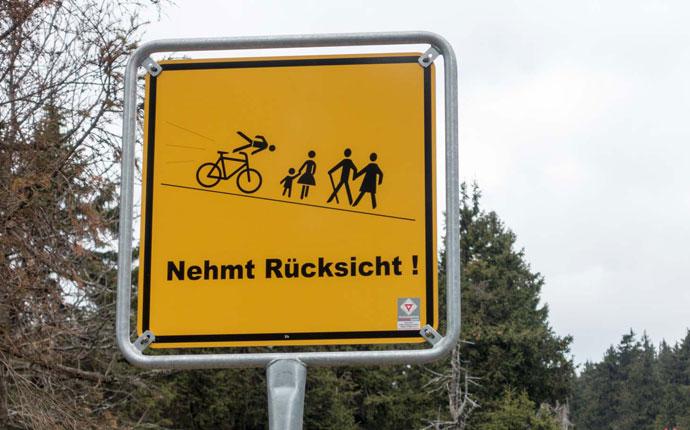 Radfahrer Schild