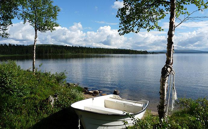 Ruderboot am Femundsee in Norwegen