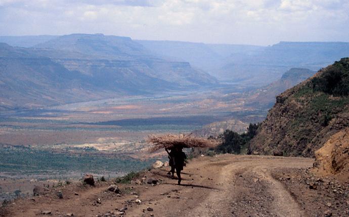 Äthiopien Blick über die Berge