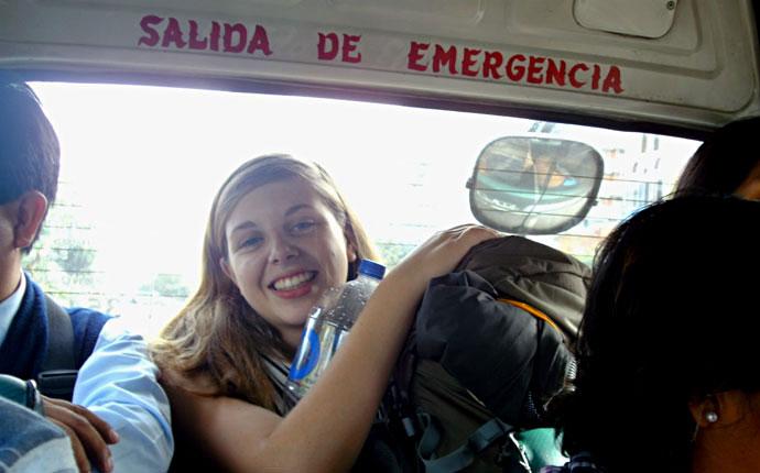 Fahrt mit dem Minibus in Peru