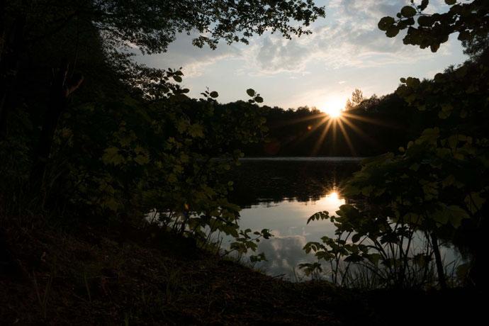 Foto vom Sonnenuntergang