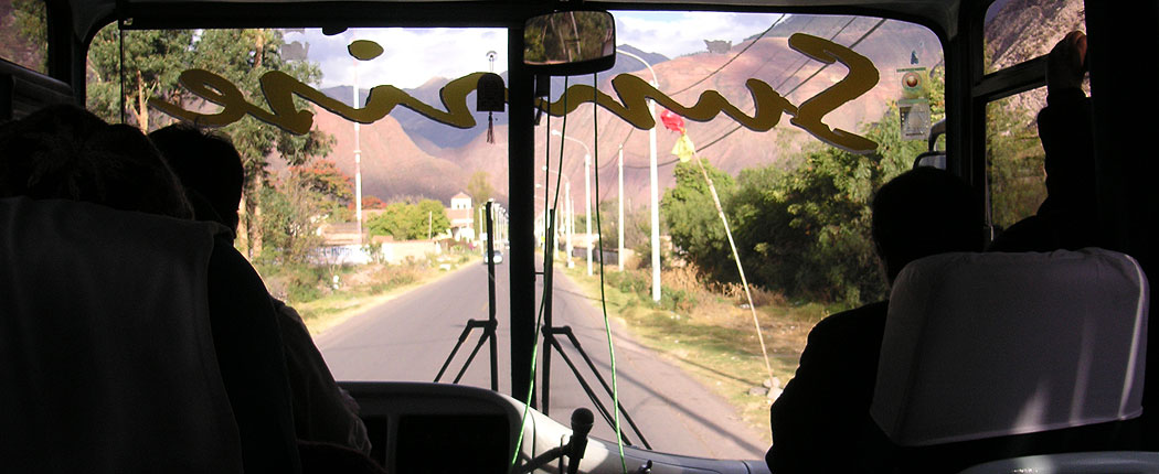 Busfahrt in Peru