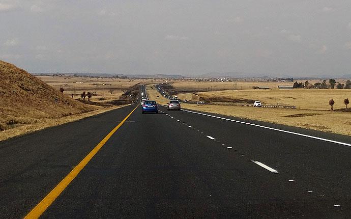 Autobahn in Südafrika