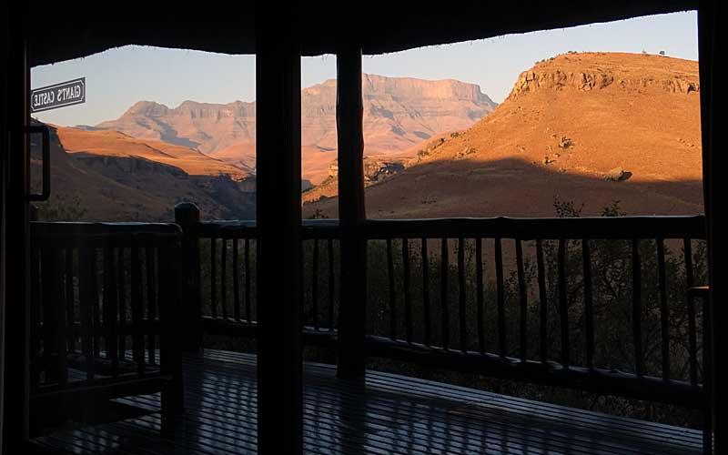 Aussicht auf Berge von Honeymoon Suite im Giant's Castle
