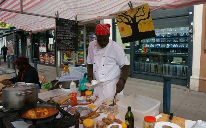 Reise nach London: Street Food Stand