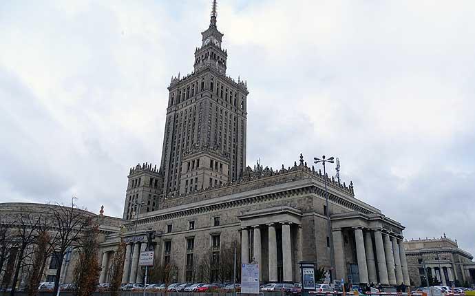 Warschau Kulturpalast, hoher Turm