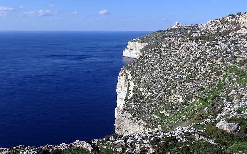 Steilklippen in Dingli auf Malta