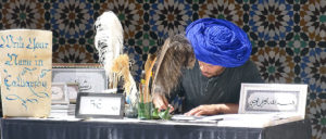 Kalligraphie-Schreiber in Marrakesch