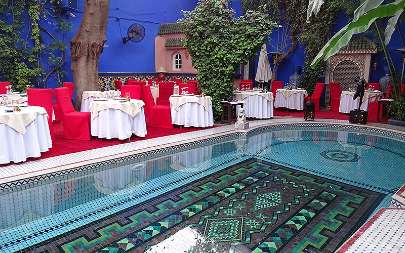 Pool im Riad Dar Moha in Marrakesch