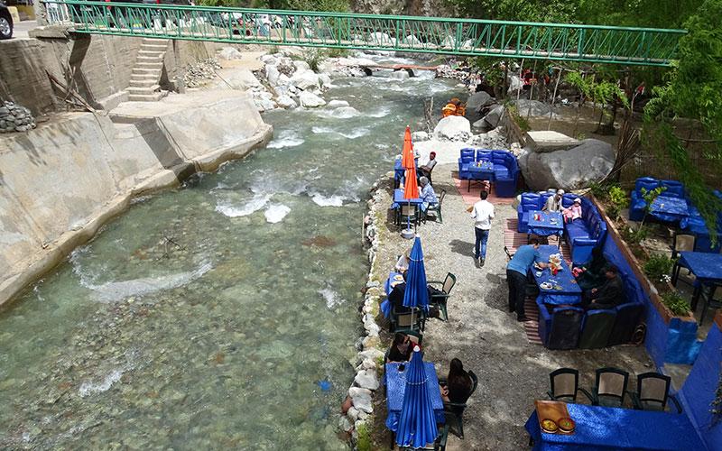 Restaurant am Fluss im Ourika-Tal