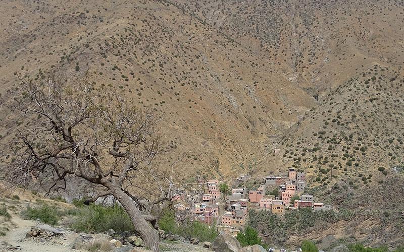 Blick auf das Dorf Setti Fatma