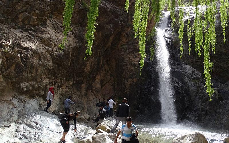 Wasserfall am Ende des Ourika-Tals