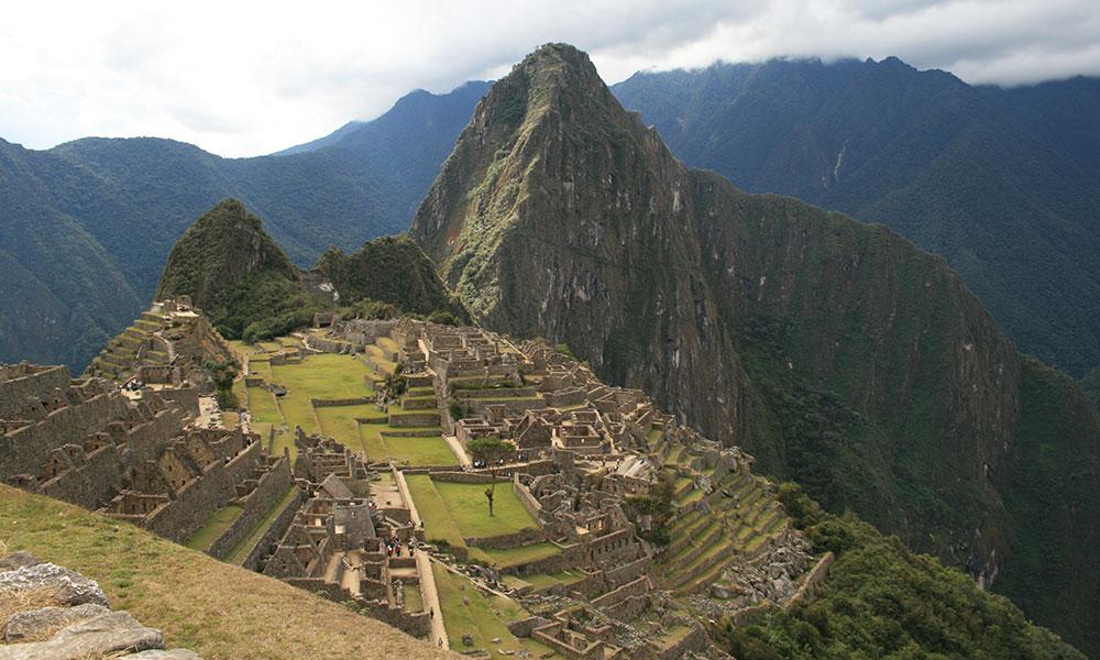 Vogelperspektive auf Machu Picchu
