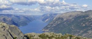 Aussicht vom Preikestolen über den Lysefjord