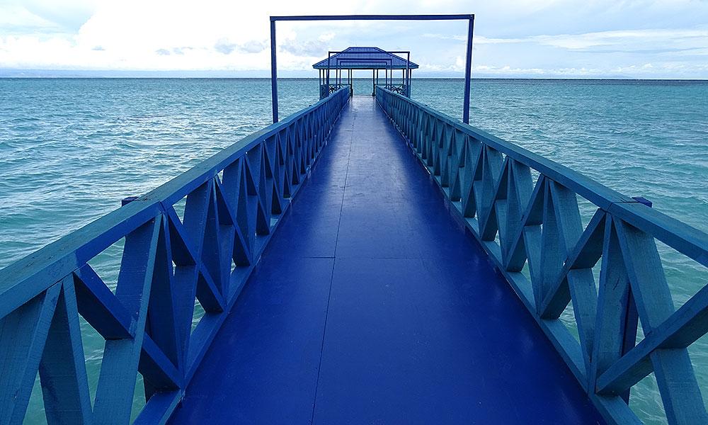 Blaues Pier