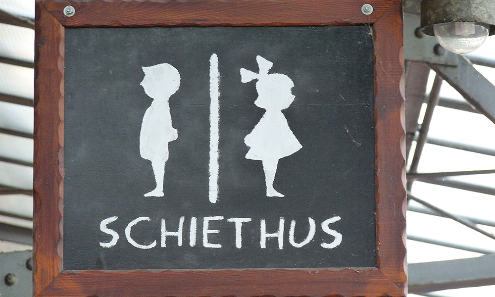"Toilettenschild ""Schiethus"""